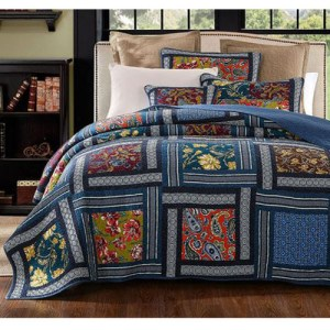 French Country Patchwork Bed Quilt ENGLISH CHARM KING Coverlet