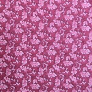 Patchwork Quilting Sewing Fabric MUMS LEAVES Rose Pink FQ 50x55CM New Material