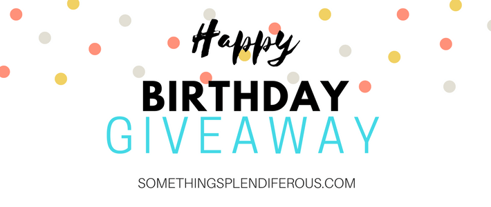 www.somethingsplendiferous.com August is always a little bittersweet, because I know I will have to go back to work soon. Leaving my kids is never easy. I love my job, but I love my kids more. August is my birthday month, so I thought it would be a good time for a giveaway! I love my birthday and I love that my family always makes me feel special.