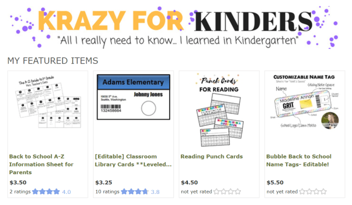 https://www.teacherspayteachers.com/Store/Krazy-For-Kinders