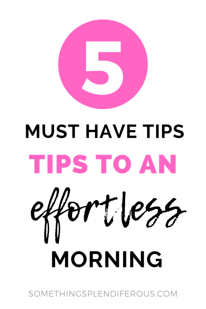 Are you drowning mama? Do your mornings feel rushed and leave you frazzled? You're not alone! I was there too. I want you to make the most of your morning and stop stressing. I'm going to let you in on my little secret... these 5 simple things will make your morning feel effortless. #minimize #busymom #morningroutine #effortless <#morning