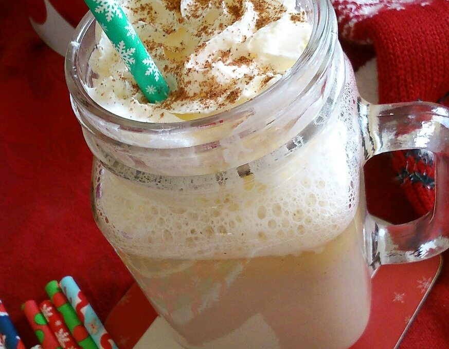 Christmas spiced white hot chocolate