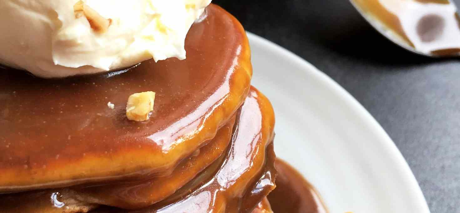 Sticky toffee pudding pancakes