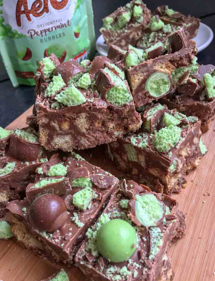 No Bake Mint Aero TrayBake