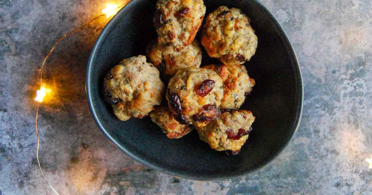 Sausagemeat Sage and Cranberry Stuffing Balls