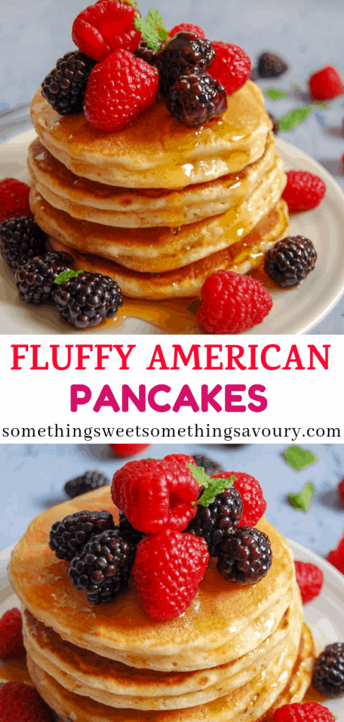 Looking for the best ever fluffy American pancake recipe? Look no further! This foolproof recipe will give you perfect pancakes every single time. #bestpancakerecipe #americanpancakerecipe