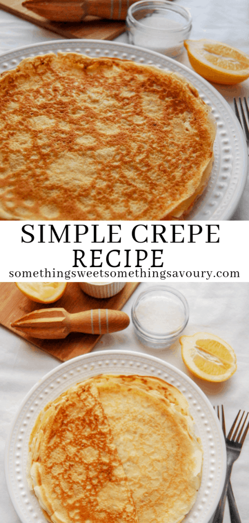 How to make simple homemade crepes