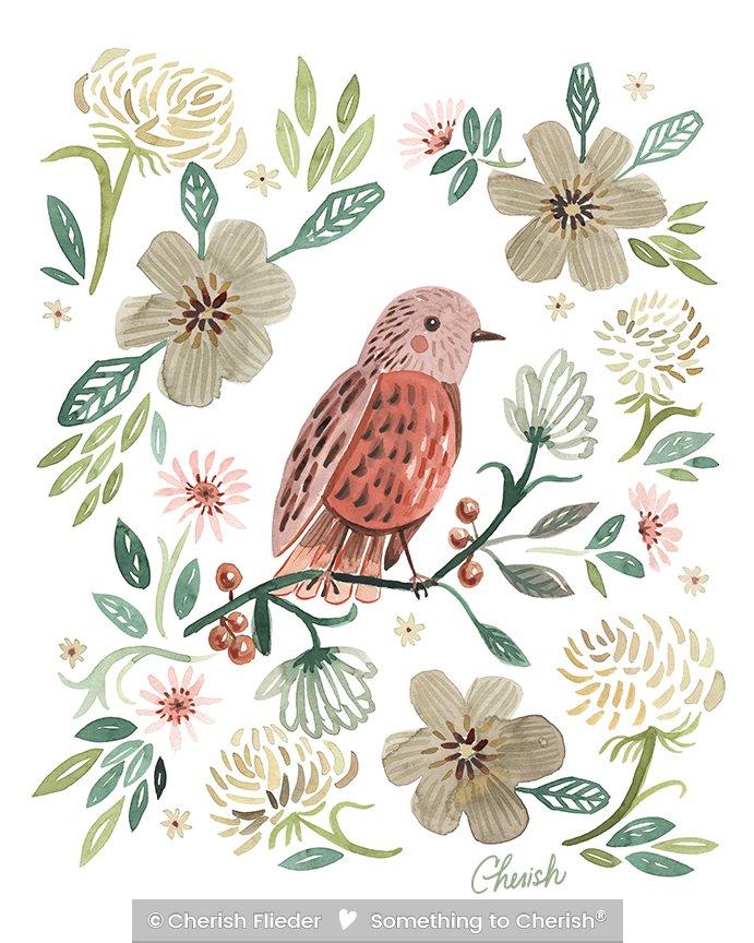 Birds C1713-01 Ella\'s Soft Landing © Cherish Flieder