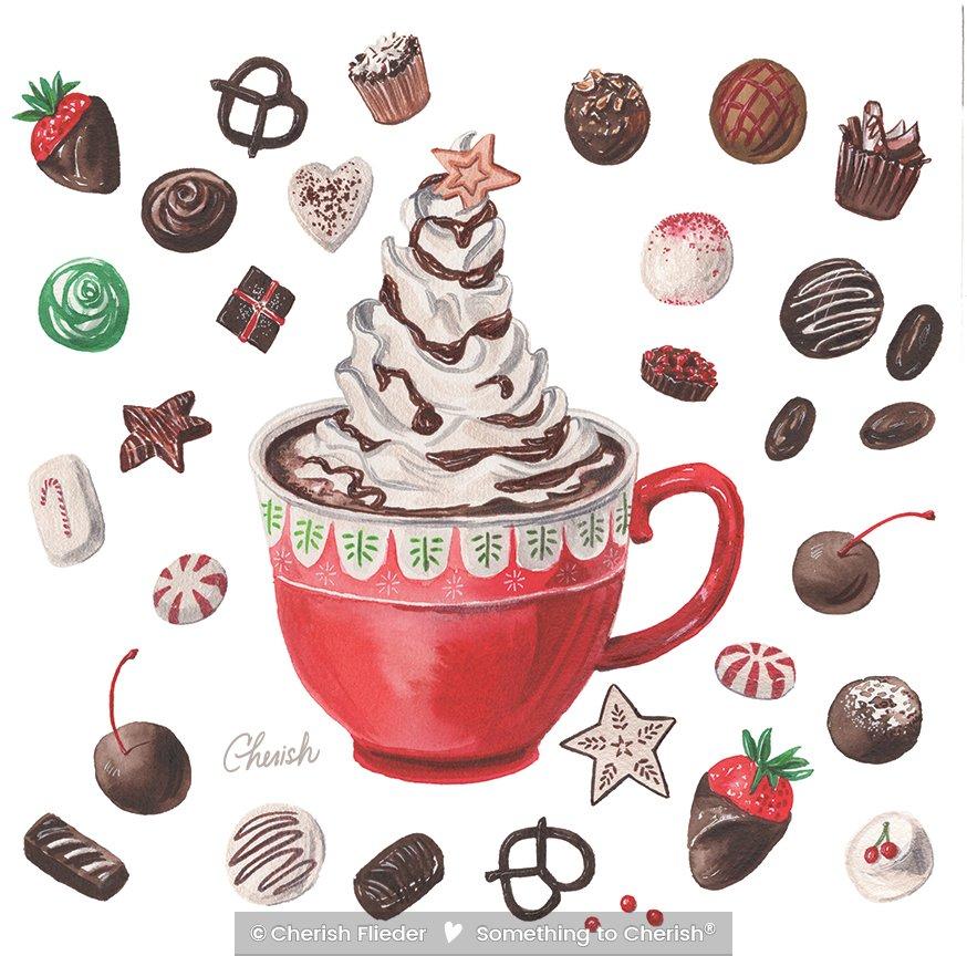 Christmas C1320-02 Hot Chocolate Christmas Icons © Cherish Flieder