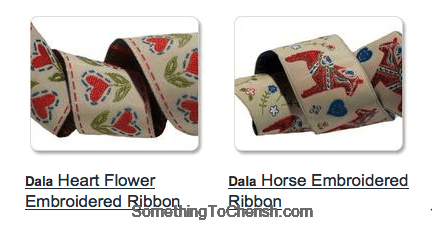 dala horse ribbon inspired by sweden art