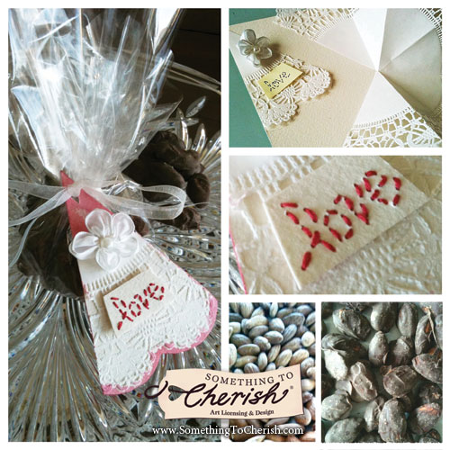 Dark Chocolate Almond Wedding Favor - Designer Crafts