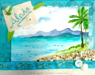 Aloha Mixed Media Collage