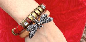 leather slide bracelets