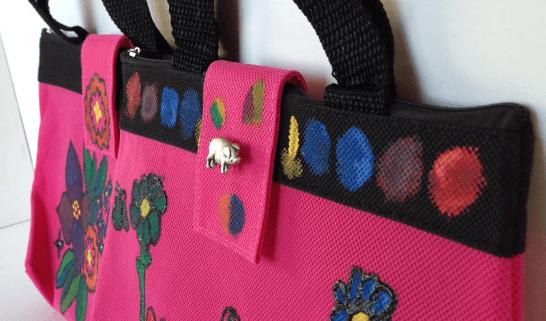 Fabric Paint Fashion Handbag