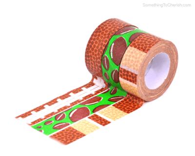 Football Theme Decorative Repositionable Washi Tape