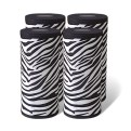 Set of 4 Black and White Paper Towels