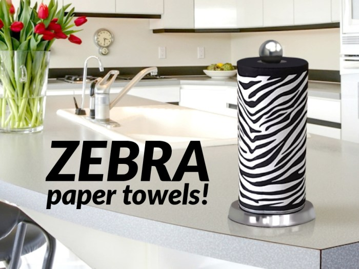 Zebra Paper Towels Invented by Glen Mullins and Designed by Cherish Flieder