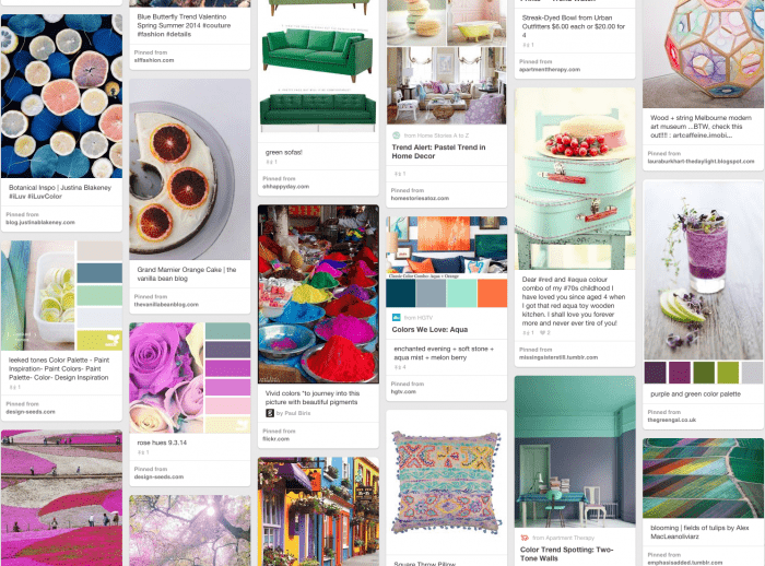 """Also, check out some of my favorite color trends throughout the year on my """"Colors to Cherish"""" Pinterest board."""