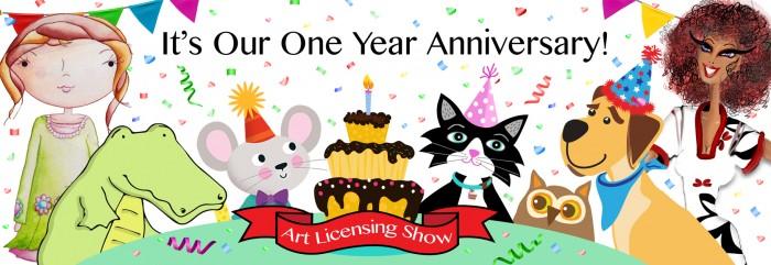 Art Licensing Show Anniversary Banner