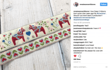 Swedish Dala Horse Ribbon - Renaissance Ribbons - Scandinavian Design by Cherish Flieder, Something to Cherish®