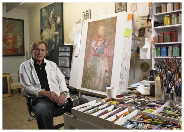 Mark English in his studio.