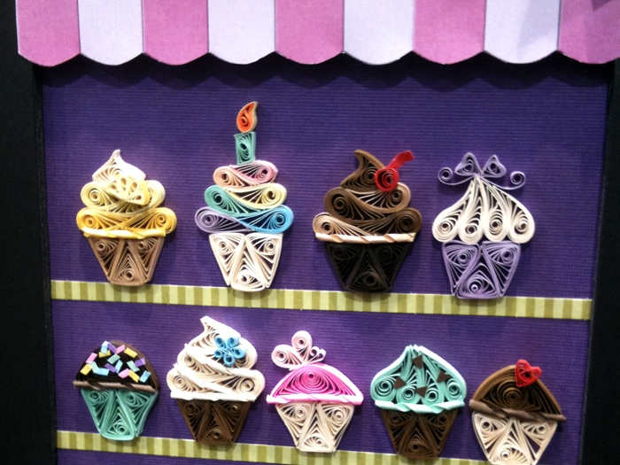 Paper quilling cupcakes by Alli Bartkowski