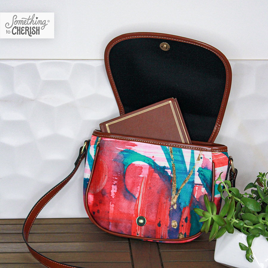 """Passion"" Canvas Saddle Bag by Cherish Flieder of Something to Cherish"