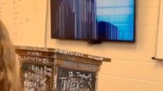 Teacher broken tv prank