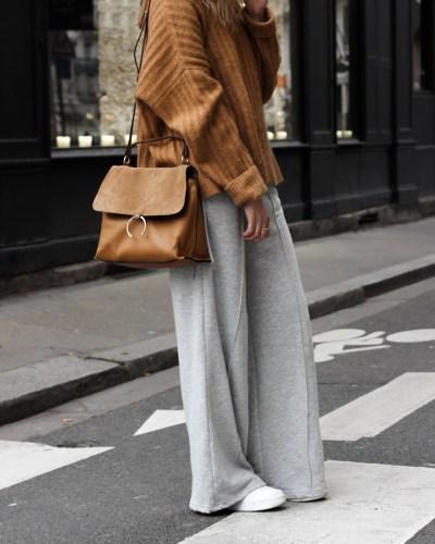 Camel & wide pants