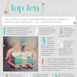 top ten tips for wedding registries
