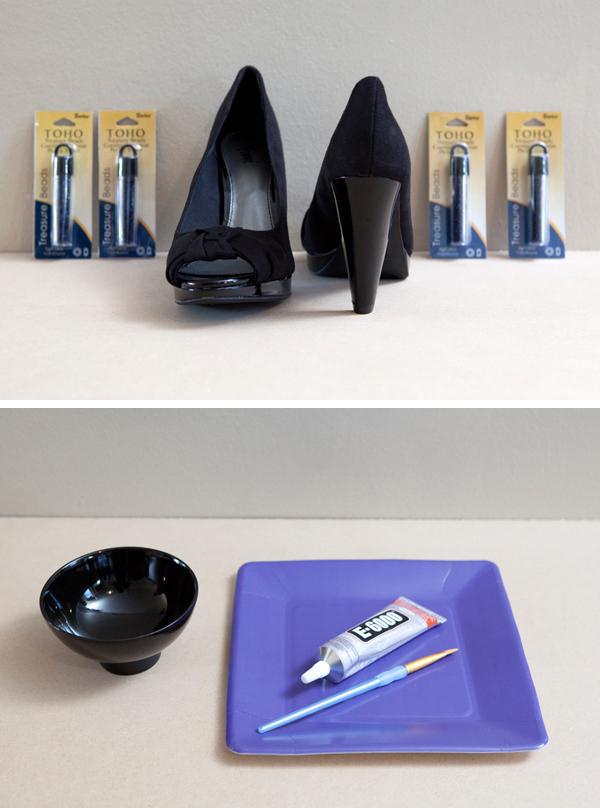 DIY Beaded High Heels via Something Turquoise