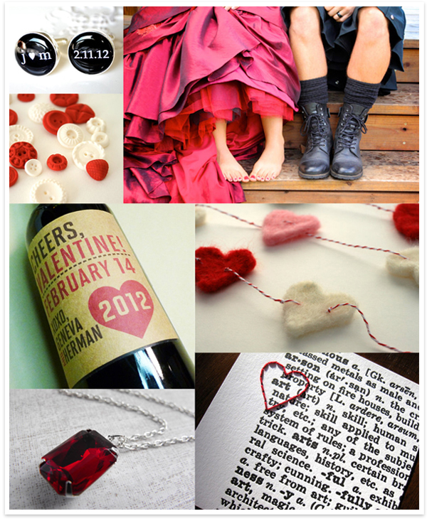 Red + Black Valentine Wedding Inspiration