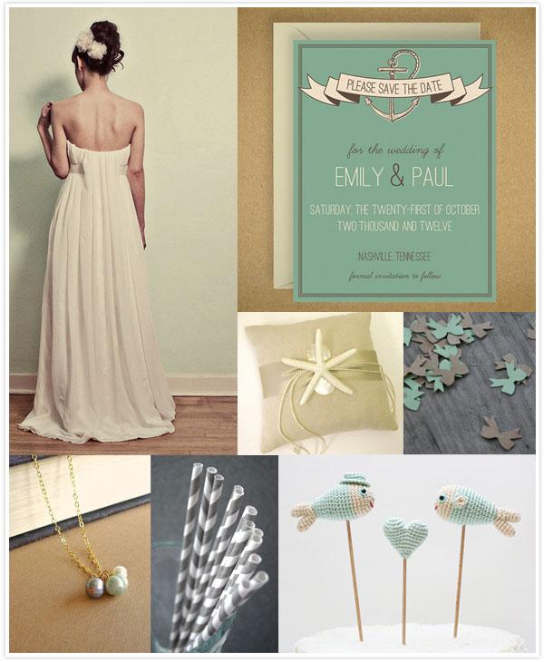 Nautical Wedding Inspiration via Something Turquoise