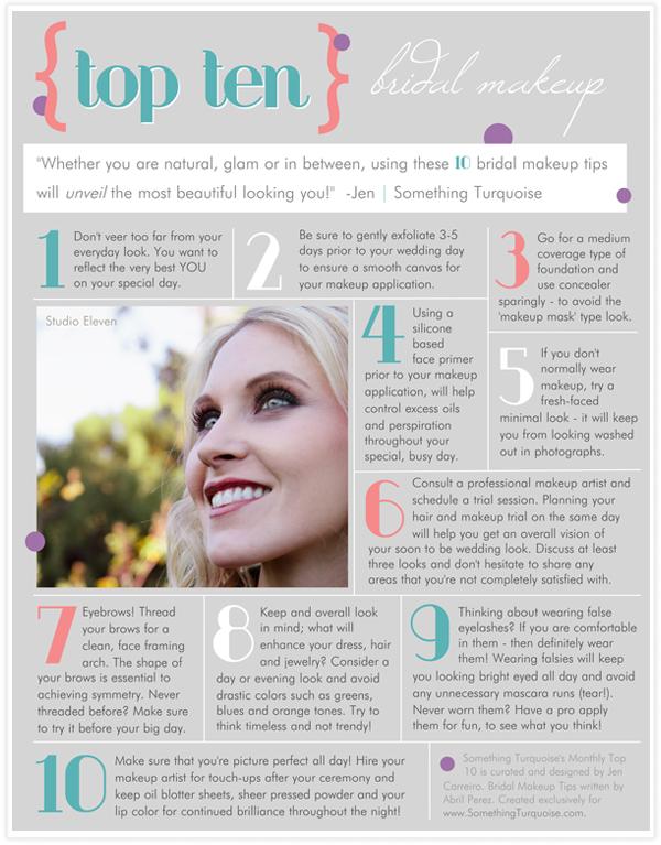 top 10 bridal makeup tips