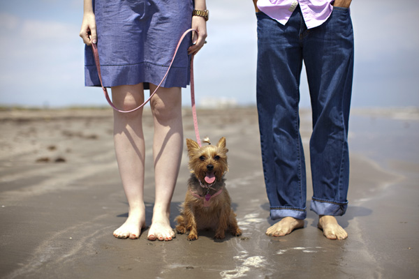 texas beach engagement