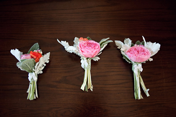 cabbage rose boutonniere