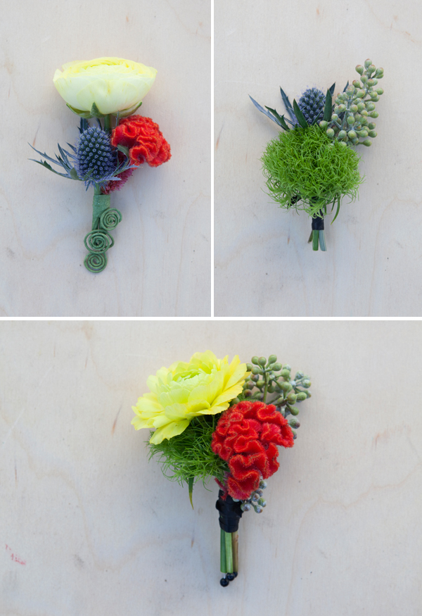 neon boutonnieres