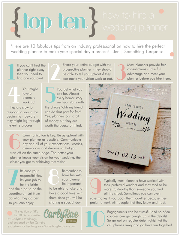TOP 10 Hiring a Wedding Planner Something Turquoise