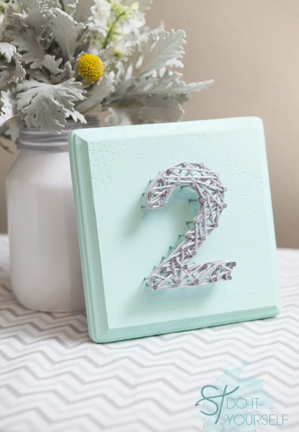 Diy string art table numbers for your wedding stdiynailyarndecortablenumbers0001g prinsesfo Gallery