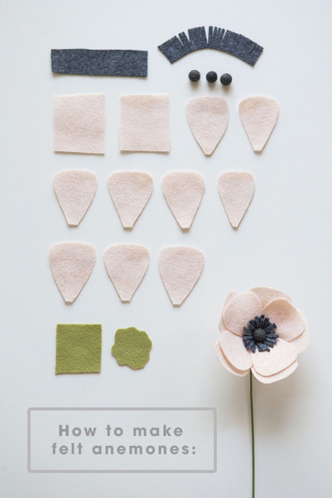 How to make a felt anemone flower