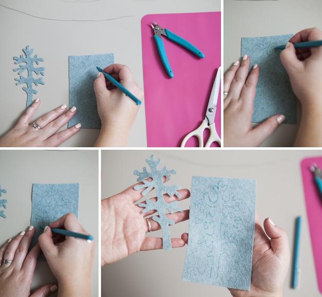 how to make felt dusty miller leaves