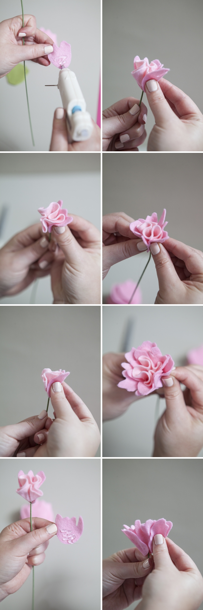 how to make a felt peony