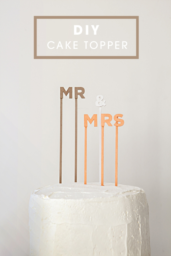 DIY cake topper sayings mr and mrs
