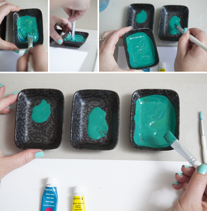 How to make ombre watercolor shades