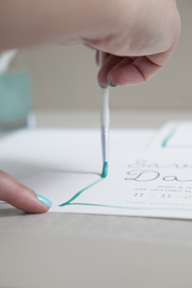 How to watercolor your wedding stationary!