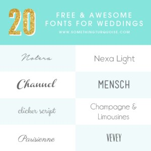 20 Free and Awesome Fonts for Weddings!