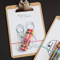 Simple DIY | Kids Coloring Clipboard Favor