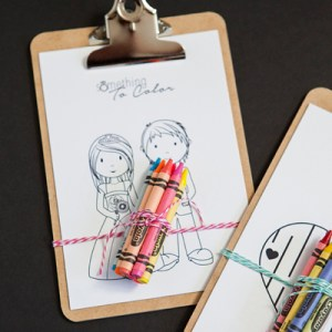 DIY Kids coloring clipboard favor