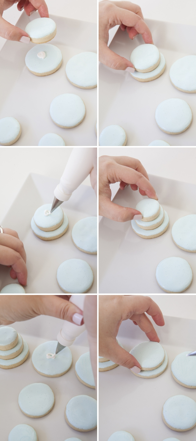 make stacked wedding cake cookies learn how to make these stacked wedding cookies 16993