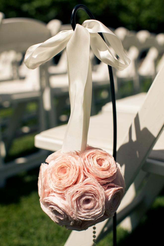 Paper flower ceremony decor...